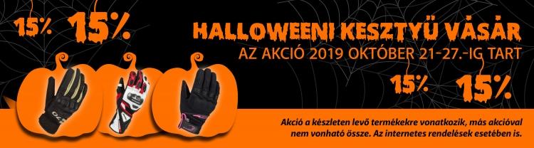 Halloweeni kesztyű vásár