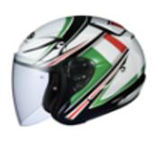 Avand-2 bukósisak (nyitott) - többszínű (Flag Italia)