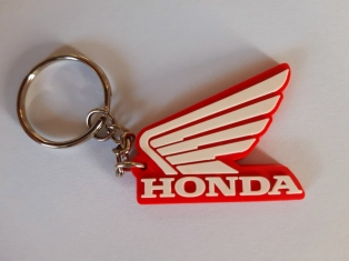 Honda Szárny kulcstartó,piros