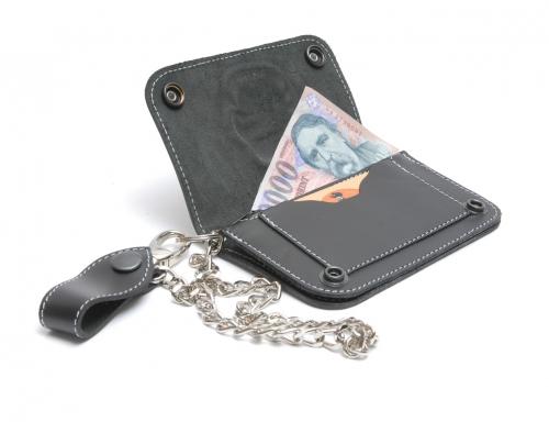 Pénztárca Bőr pénztárca, rövid 3 részes
