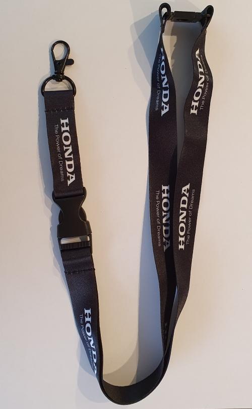 Honda nyakba akaszthatós kulcstartó, fekete-fehér HONDA nyakba akaszthatós kulcstartó, fekete-fehér
